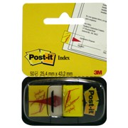 BANDERITAS POST-IT FIRME AQUI 3M AMARILLO 68031